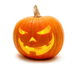 This is a spooky jack-o-lantern.